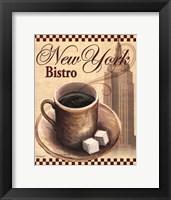 New York Bistro Framed Print