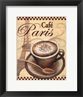 Framed Paris Cafe
