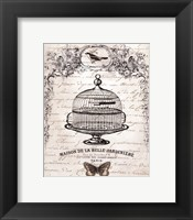 Framed French Birdcage I - mini