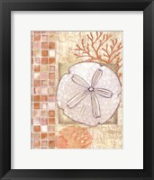 Mosaic Shell Collage IV - mini Framed Print