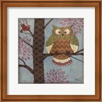 Framed Fantasy Owls I
