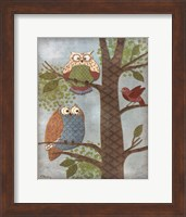 Framed Fantasy Owls Vertical II