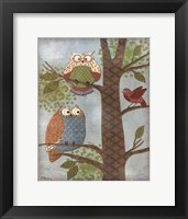 Framed Fantasy Owls Vertical II