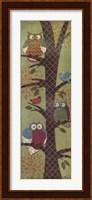 Framed Fantasy Owls Panel I