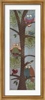 Framed Fantasy Owls Panel II