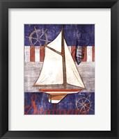 Framed Maritime Boat II
