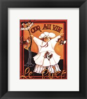 Coq Au Vin - mini Framed Print