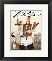 Chef & Wine II Framed Print