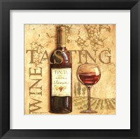 Framed Wine Tasting Square
