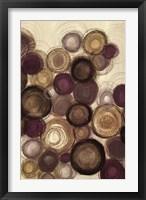 Framed Purple Whimsy I