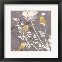 Framed Gray Meadow Lace I