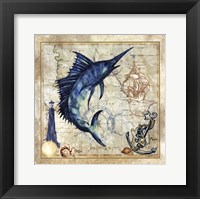 Framed Nautical Swordfish