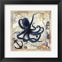 Framed Nautical Octopus