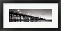 Framed Pier Night Panorama II - mini