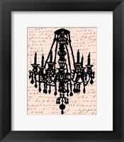 Framed Chandelier Calligraphy II - mini