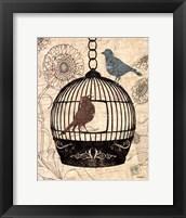Framed Birds & Blooms I