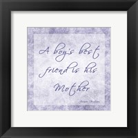 A Boy's Best Friend Framed Print