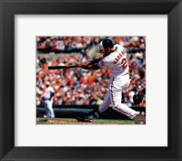 Framed Nick Markakis 2013 Batting