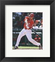 Framed Joey Votto 2013 Action
