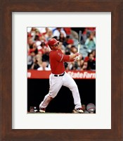 Framed Mike Trout 2013 batting