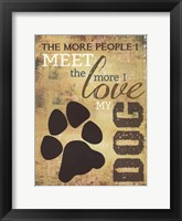 People Vs. Dogs Framed Print
