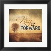 Framed Pay It Forward