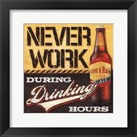 Drinking Hours Framed Print