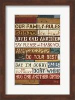 Framed Our Family Rules I