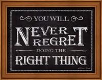 Framed Never Regret