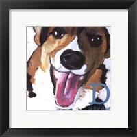 Framed D is for Dog-Mini