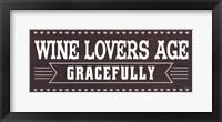 Framed Wine Lovers IV