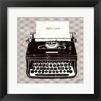 Framed Vintage Analog Typewriter