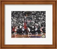 Framed Michael Jordan 1998 NBA Finals Game Winning Shot