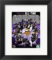 Framed Minnesota Vikings All-Time Greats Composite