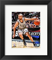 Framed Tony Parker 2012-13 Playoff Action