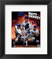 Framed Matt Harvey 2013 Portrait Plus
