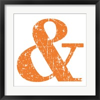 Orange Ampersand Framed Print