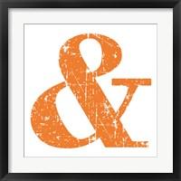 Framed Orange Ampersand