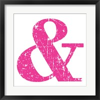 Framed Pink Ampersand