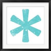 Framed Aqua Asterisk