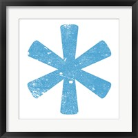 Blue Asterisk Framed Print
