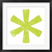 Framed Lime Asterisk