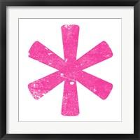 Pink Asterisk Framed Print