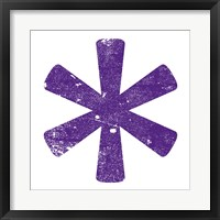 Purple Asterisk Framed Print