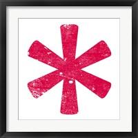 Framed Red Asterisk