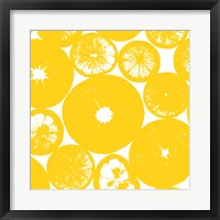 Yellow Lemon Slices Framed Print