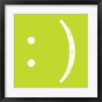 Lime Smiley Framed Print