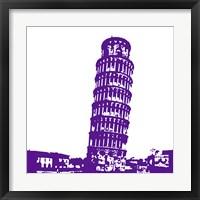 Framed Pisa in Purple
