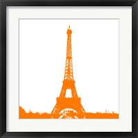 Framed Orange Eiffel Tower