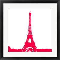 Framed Red Eiffel Tower